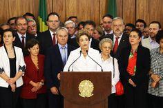 Dilma Rousseff realiza pronunciamento no Palácio do Planalto, em Brasília (DF), após ser notificada de seu afastamento por até 180 dias - 12/05/2016