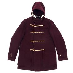 Gloverall Mid Length Monty Jacket Burgundy