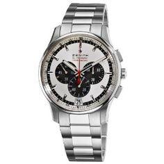 Zenith Men's 03.2043.4052/01.M2040 El Primero Striking 10th Chronograph Silver Dial Watch
