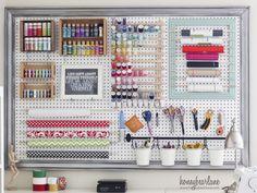 extra large pegboard craft room organization 1024x926 6 Fresh Ideas For Pegboard Organization