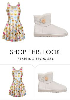 """""""This Is Wat It Is"""" by mynameisyaya ❤ liked on Polyvore featuring UGG Australia, women's clothing, women, female, woman, misses and juniors"""