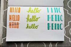 4 easy ways to add exciting font to your bullet journal!