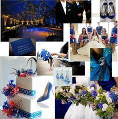 #Blue inspiration board - love the #cake