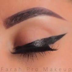 Almond Eye Makeup, Yellow Eye Makeup, Black Eyeshadow Tutorial, Eyeliner Tutorial, Emo Makeup Tutorial, Eyebrow Makeup, Skin Makeup, Winged Eyeliner, Vintage Makeup