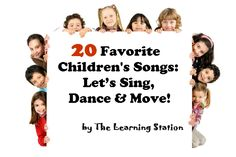 Music & Movement Action Songs: A wonderful collection of 20 of the most popular, fun music videos that will get your children up and moving. They are great for brain breaks, indoor recess, morning meetings and group activities. These action songs are ideal for preschool, kindergarten and lower elementary!