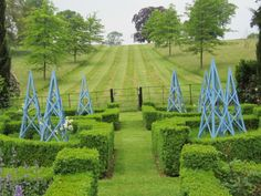 New rose parterre. Tom Stuart Smith, Buxus, English Gardens, Topiary, Hedges, Deco, Golf Courses, England, French