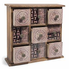 Boîte 9 tiroirs en bois NOMADE | Maisons du Monde