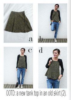 by sophie b. l'éco-design à la française: OOTD: Refashioning of a vintage skirt.
