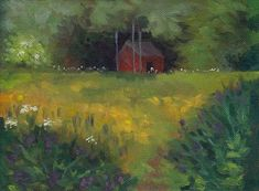 "Daily Paintworks - ""The Red Shed, June"" - Original Fine Art for Sale - © J M Needham"