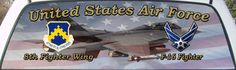 United States Air Force 8th Fighter Wing Rear Window Graphic Decal Mural.