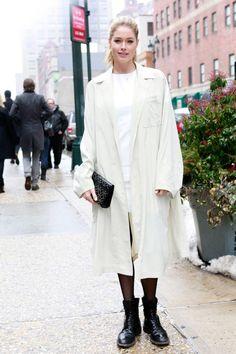 Models Off Duty Tops contra el frío: Doutzen Kroes