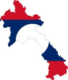Laos Flag Map - Mapsof.net