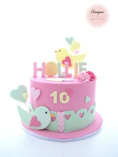 Cute birthday cake girl cakes best for girls ideas on – babyplanet Baby Girl Birthday Cake, Themed Birthday Cakes, First Birthday Cakes, Themed Cakes, Pretty Cakes, Cute Cakes, Bolo Laura, Gateau Baby Shower, Girly Cakes