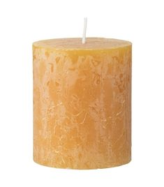 rustic candle - 8 x 7 cm - ochre - HEMA Rustic Candles, Pillar Candles, Image Bougie, Candle Making, Home And Living, Candle Holders, Design, Home Decor, Ideas