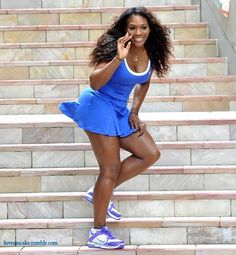 Serena Williams-I love watching her play and the outfits....I want to wear on/off the court but wait, I don't play tennis.