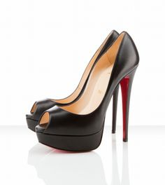 Christian Louboutin Lady Peep Spike Pump. I could never wear these ...