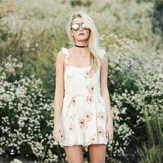 Kimchi Blue Petunia Gauze Flutter-Sleeve Floral Ivory Playsuit - Urban Outfitters