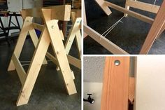 How to: Make a Sturdy Pair of Folding Saw Horses