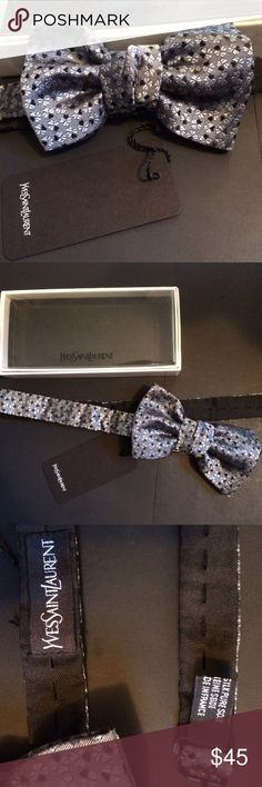YSL bow tie with tag / never worn/mint condition YSL bow tie with tag / never worn/mint condition / original packaging / silk / fully adjustable Yves Saint Laurent Accessories