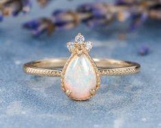 HANDMADE RINGS & BRIDAL SETS by MoissaniteRings on Etsy Druzy Ring, Gemstone Rings, Bridal Ring Sets, Handmade Rings, Opal, Gold Rings, Rose Gold, Engagement Rings, Gemstones