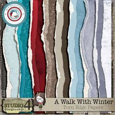 Personal Use :: Paper Packs :: A Walk With Winter - Torn Papers