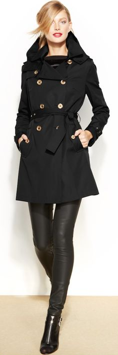 MICHAEL Michael Kors Removable Liner Trench Coat