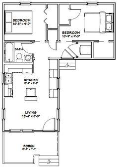 #shed #backyardshed #shedplans 14x32 Tiny House -- #14X32H1L -- 643 sq ft - Excellent Floor Plans