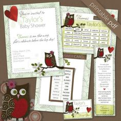Printable Baby Shower Games and Invites.