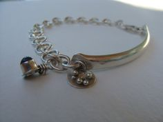 Silver Artisan Handcrafted Link Bracelet with Silver Bar