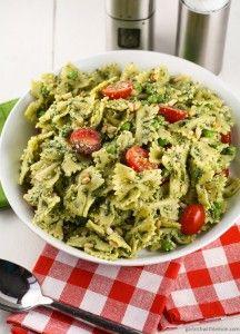 Pesto Pasta Salad with Peas - Garnish with Lemon  #sicilian-recipes  #sicilia #sicily   #italian-food