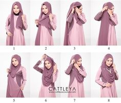 This is a modest and beautiful full chest coverage hijab tutorial, looking gorgeous, flowing and covering almost all the chest area. Here are the steps for this look: Place the hijab on your head with long & short sides Take…