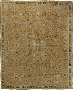 Antique Indian Rug with green ornaments. Interior decor with antique ornamental rug #rug #interior #decor