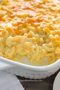 Creamy Macaroni and Cheese Casserole is easy to make from scratch. Sharp cheddar & loads of cheesy sauce make this my favorite cream mac and cheese recipe!