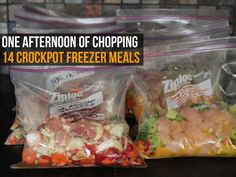 How would you like to simplify your meal planning so that you only need to handle it once a month or so? If you have access to a crock pot of a decent capacity and a freezer, you too can prepare meals weeks ahead of schedule by storing them in your freezer for use later on in the month.