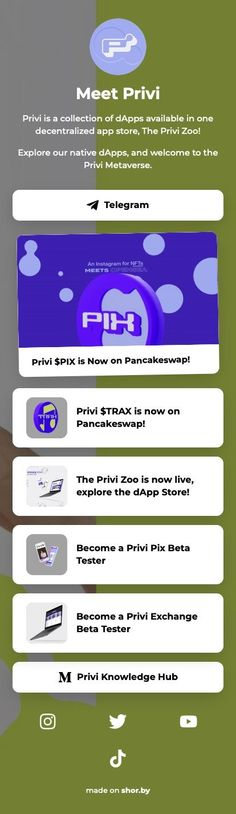 Privi is a collection of dApps available in one decentralized app store, The Privi Zoo! #dapps #linkinbio #shorby #privi #pinterestinspired App Store, Digital Marketing, How To Become, Knowledge, Social Media, Instagram, Collection, Social Networks, Social Media Tips