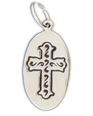 Sterling Silver Faith Is... Charm