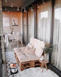 Small Balcony Design, Small Balcony Decor, Balcony Ideas, Patio Ideas, Diy Patio, Budget Patio, Wood Patio, Narrow Balcony, Condo Balcony