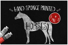 Sponge Painted Horses by Kaazuclip on @creativemarket