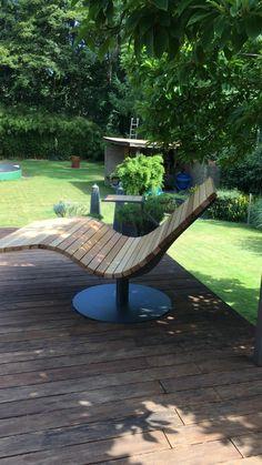 Garden Ideas Budget Backyard, Backyard Landscaping, Cool Backyard Ideas, Diy Garden Projects, Diy Garden Decor, Design Jardin, Furniture Ideas, Outdoor Furniture, Wood Patio