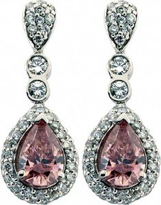 Pink Diamond Earrings See more stunning jewelry at http://DiamondScape.net! #jewelry