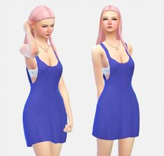 Beach Dress v2 at Simlife – mysimlifefou via Sims 4 Updates Check more at http://sims4updates.net/clothing/beach-dress-v2-at-simlife-mysimlifefou/