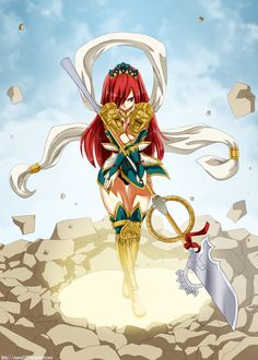 Erza Scarlet, Fairy Tail - I wonder what armor that is?