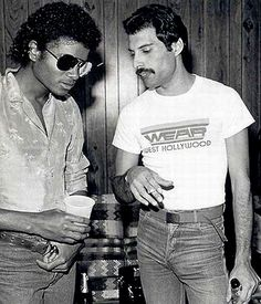 Michael Jackson with Freddie Mercury