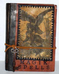 Halloween Altered Book  Magik Spells by paintedpony99 on Etsy, $22.00