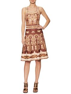 M Missoni Metallic Intarsia Midi Dress