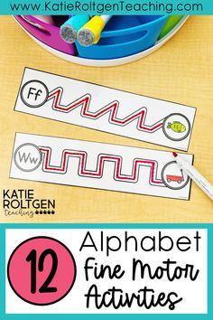 My preschool and kindergarten students love this low-prep, hands-on bundle of alphabet fine motor activities! These interactive activities are perfect for my morning tubs, small groups, centers, and more! What a fun way to practice foundational literacy skills, fine motor skills, and hand-eye coordination!