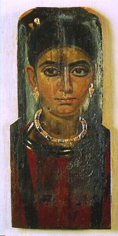 Coffin portrait from Fayum, Egypt, 3rd century AD