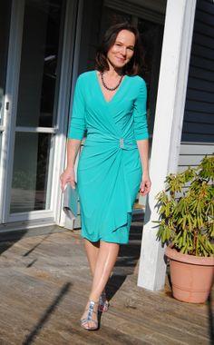 Lady of Style | Jade Green Wrap Dress by #GrayandOsbourn http://rstyle.me/~1KuRQ