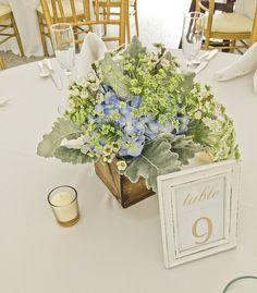 Garden Centerpiece Blue Wedding Arrangements, Free Wedding, Floral Design, Centerpieces, Create, Garden, Flowers, Garten, Floral Patterns