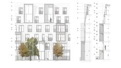 Alison Brooks Architects _ South Kilburn Estate Regeneration _ Bronte and Fielding _ Elevations
